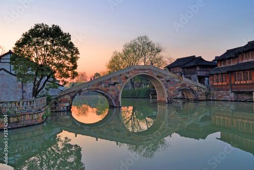 Morning light at Shanghai Xizha old village