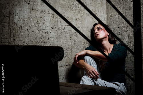 Used and abused; domestic violence concept Fototapeta