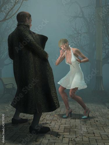 Photo  pervert man shock woman