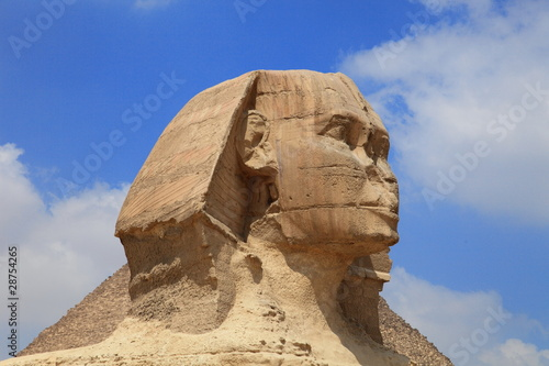Tuinposter Egypte Sphinx of the Great Pyramid in Giza, Egypt