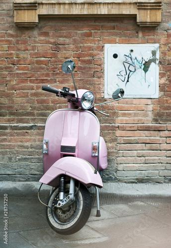Photo  Vespa and old wall