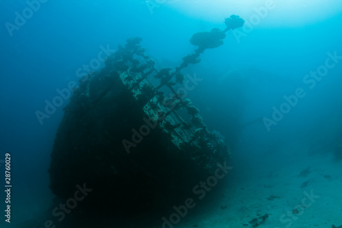 Photo Stands Shipwreck Wreck in the Red Sea