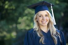 Attractive Female Graduate Portrait