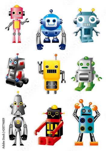 Deurstickers Robots cartoon robots