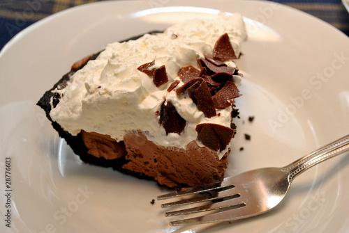 Fotografie, Obraz  A Slice of Chocolate Cream Pie