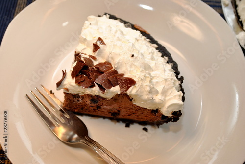 Fotografie, Obraz  Chocolate Pie with Cream