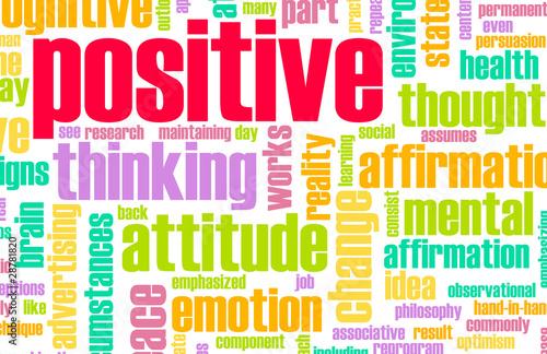 Thinking Positive Fototapet