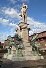 Fototapeta na wymiar Livorno: statua dei Quattro Mori