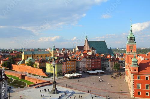 Foto op Plexiglas Historisch geb. Warsaw - Plac Zamkowy, Castle Square