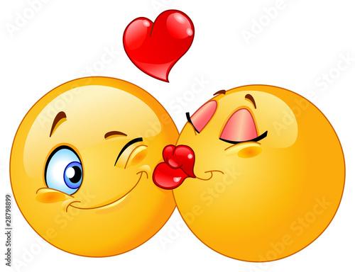 Stampa su Tela Kissing emoticons
