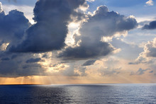 Sunset Over Caribbean Waters