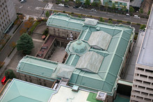 Bank Of Japan From Above In Tokyo - Yen - Yensymbol