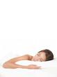 Asian woman sleeping