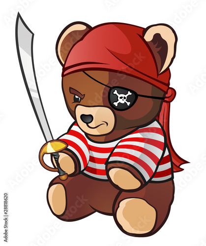 Photo Stands Pirates Pirate Teddy Bear