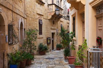 Fototapeta na wymiar Street in   old mediterranean town