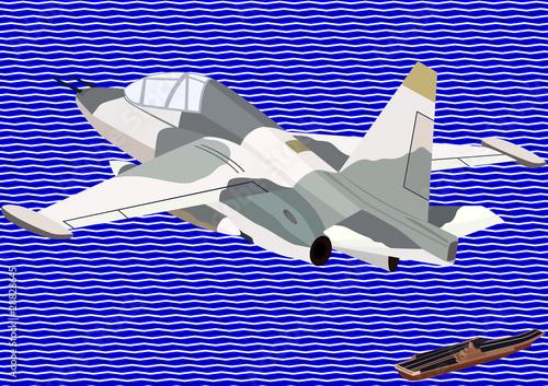 Deurstickers Militair Fighter of naval aviation
