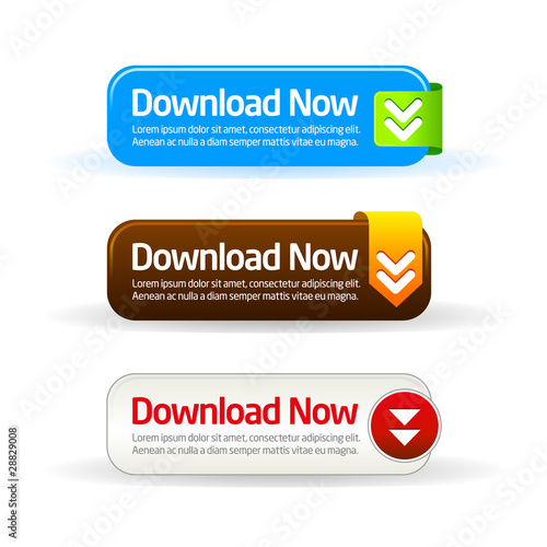 Fotografía  Download now modern button collection
