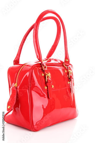 8a6b4e0d8bce6 Red women bag isolated on white background - Buy this stock photo ...