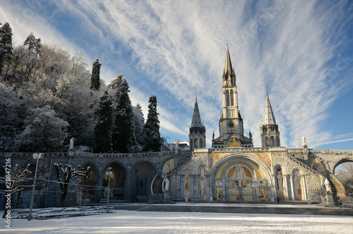 фотография  A Lourdes en hiver