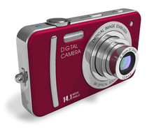Red Compact Digital Camera