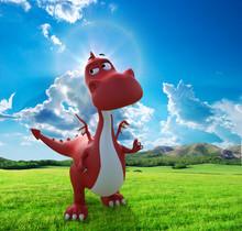 Dino Baby Dragon Walking On Th...