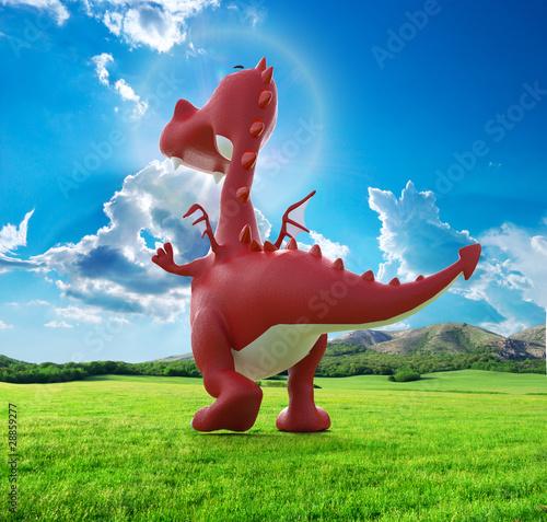 Foto-Stoff - dino baby dragon in going away (von DM7)