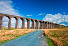 Famous Ribblehead Viaduct In Yorkshire Dales