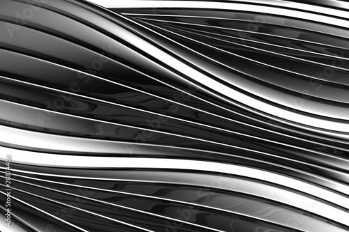 Fényképezés  Aluminum abstract silver stripe pattern background