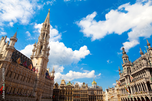Foto op Canvas Brussel Grand Place, Brussels