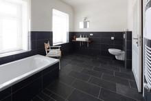 Badezimmer Mit Schieferboden