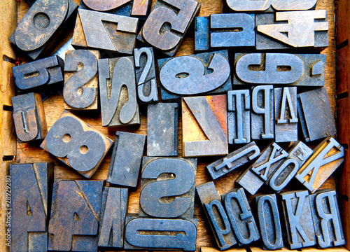 Fototapety, obrazy: wooden fonts