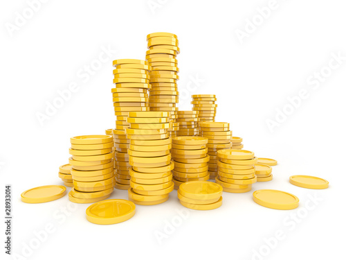 Fotografía  Gold coins  3D