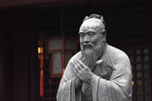 Statue Of Confucius At Temple ...