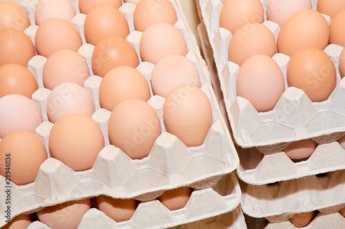фотография  Hühnereier, Grundnahrungsmittel, Hofladen, Bioeier