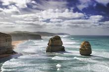 The Twelve Apostles At The Great Ocean Road, Victoria, Australia