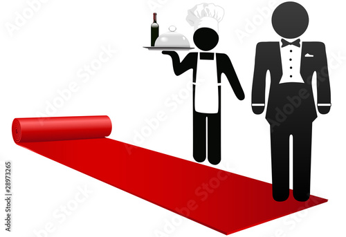 Láminas  People roll out red carpet welcome hotel hospitality