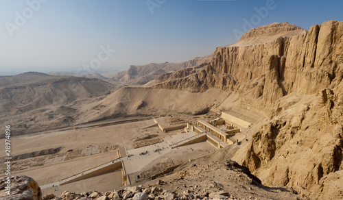 Tuinposter Egypte Panorama of the Memorial Temple of Hatshepsut . Luxor, Egypt
