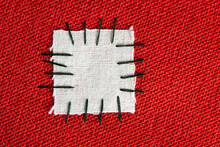 Large Patch On Red Cloth - Background