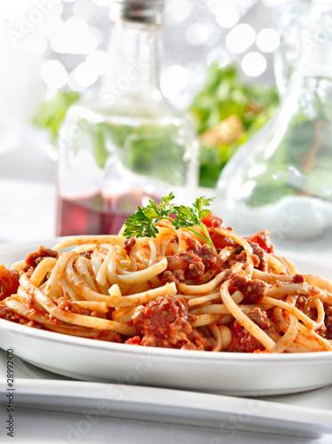 Spaghetti Pasta With Tomato Beef Sauce Buy This Stock
