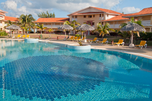 Fotografie, Obraz Swimming pool in tropical resort