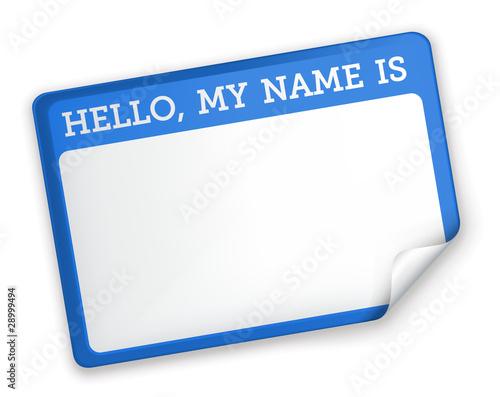 Fotografía  Name Tag