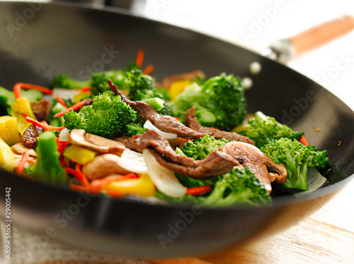 Photo  wok stir fry