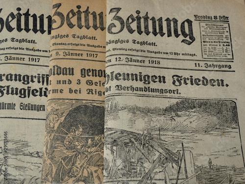 Fotobehang Kranten zeitung