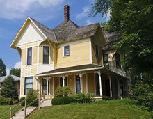 Yellow Victorian On Sunny Hill