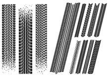 Set Di Impronte Di Pneumatici