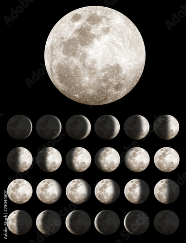 Photographie  Phases lunaires