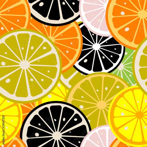 Fototapeta do kuchni Lemon slices pattern