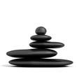 concepto zen con piedras en equilibrio aisladas en blanco