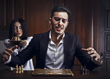 Chessplayer. Conceptual Photo.