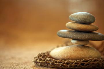 Fototapeta na wymiar Stacked stones